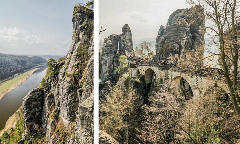 Elbsandsteingebirge Wanderwege Bastei