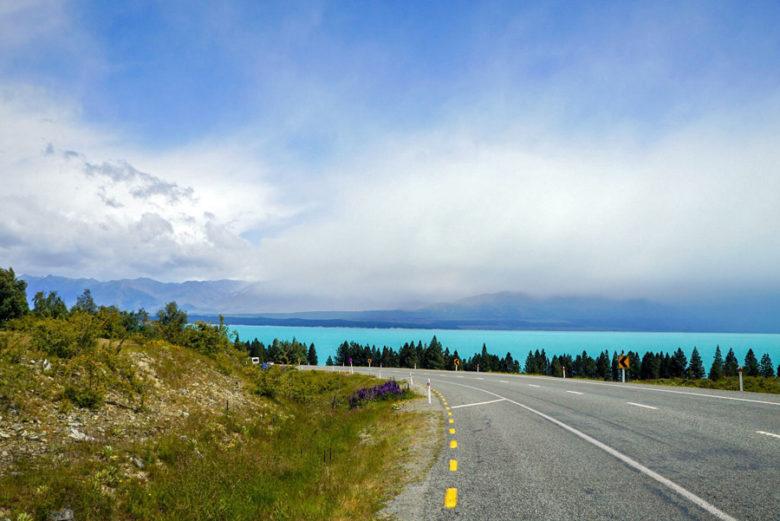 Staße bei Lake Pukaki