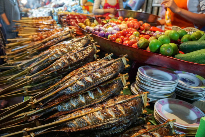 Essensmarkt in Luang Prabang