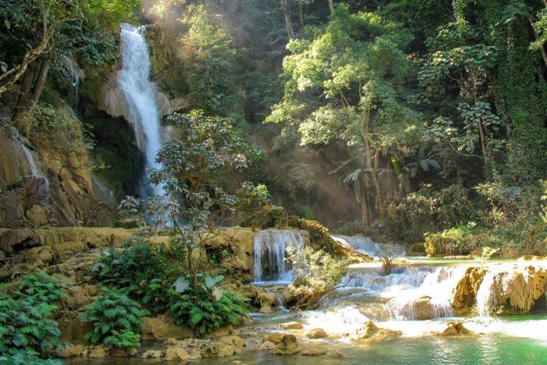 Sehenswürdigkeiten Luang Prabang Kuang Si Wasserfall