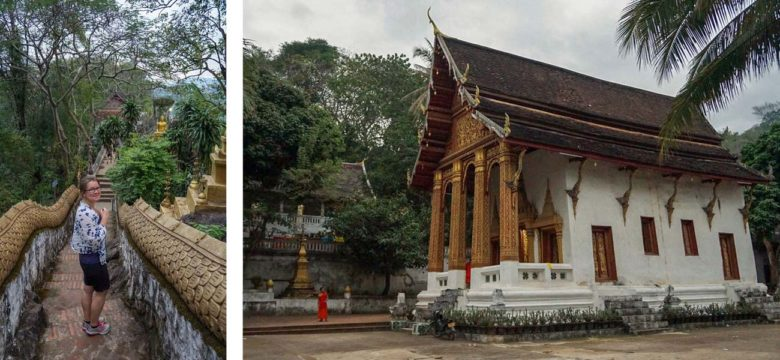 Schöner Weg auf den Mount Phou Si