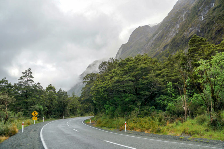 Milford Road zum Milford Sound
