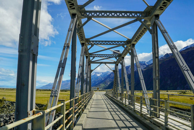 Neuseeland Brücke Mount Cook
