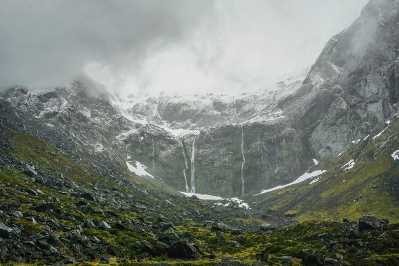 Eiswand Homer Tunnel Neuseeland
