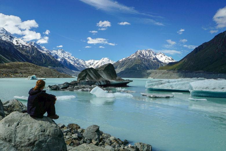 Aoraki Mount Cook Gletschersee