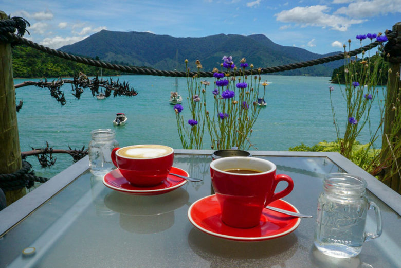 Kaffee Marlborough Sounds Neuseeland