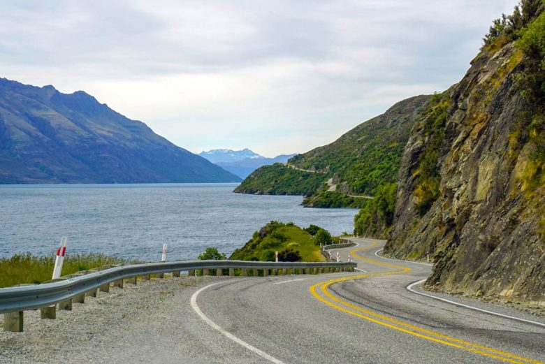 Road Glenorchy Neuseeland Roadtrip