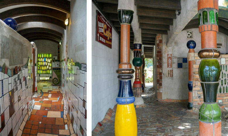 Hundertwasserr-Toilette in Kawakawa
