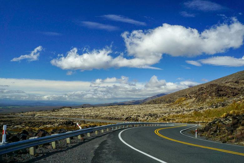 Whakapapa Road zum Mount Ruapehu