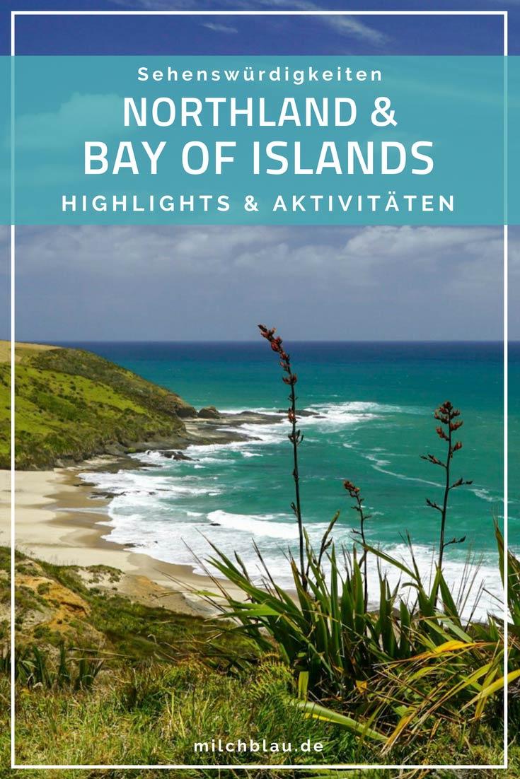 Die Highlights im Norden von Neuseeland: traumhaften und entspannte Strände, mächtige Kauri-Bäume und goldene Sanddünen.