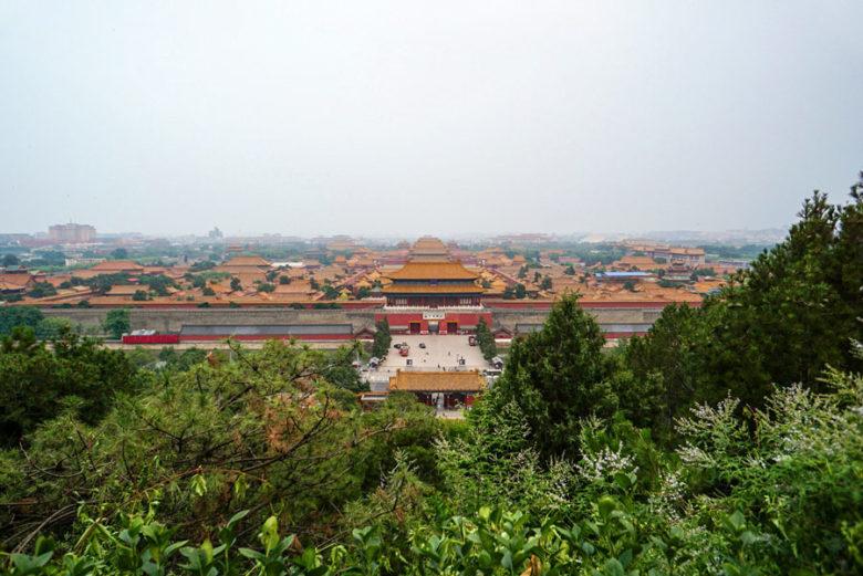 Jingshan Hügel - Blick auf Verbotene Stadt