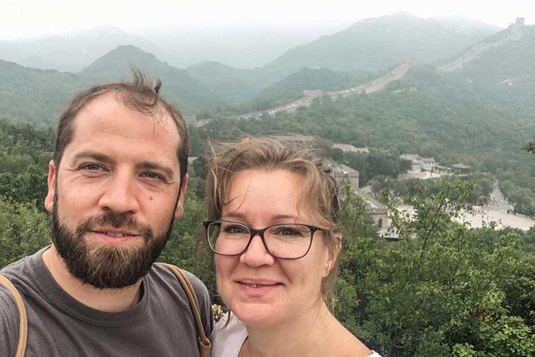 Chinesische Mauer Selfie