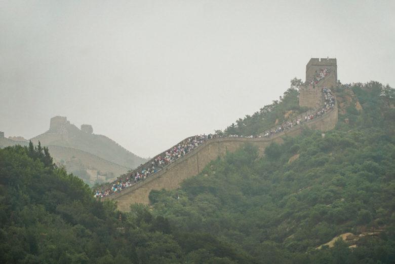 Menschenmassen Chinesische Mauer