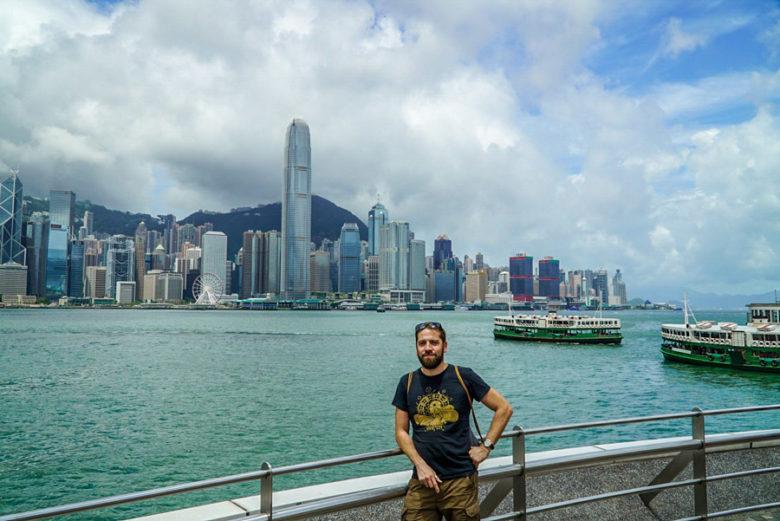 Hongkong Skyline Tsim Sha Tsui Promenade