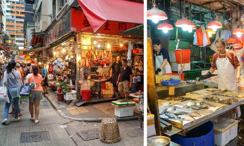 Straßenmärkte in Hongkong