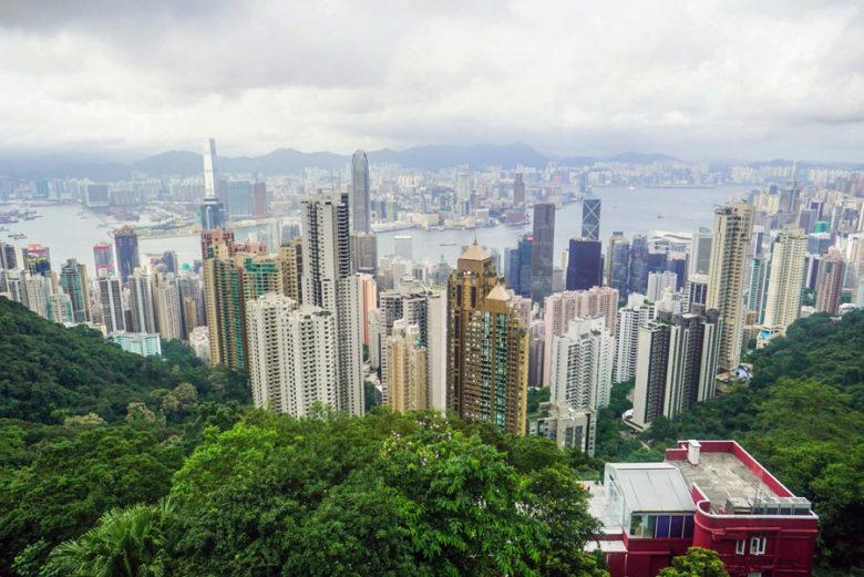 Hongkong Skyline Victoria Peak