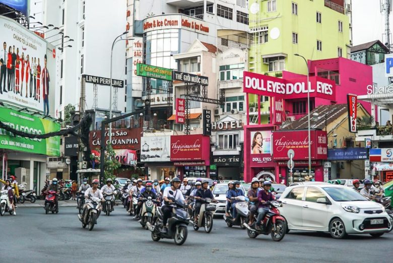 Vietnam Saigon Roller Verkehr