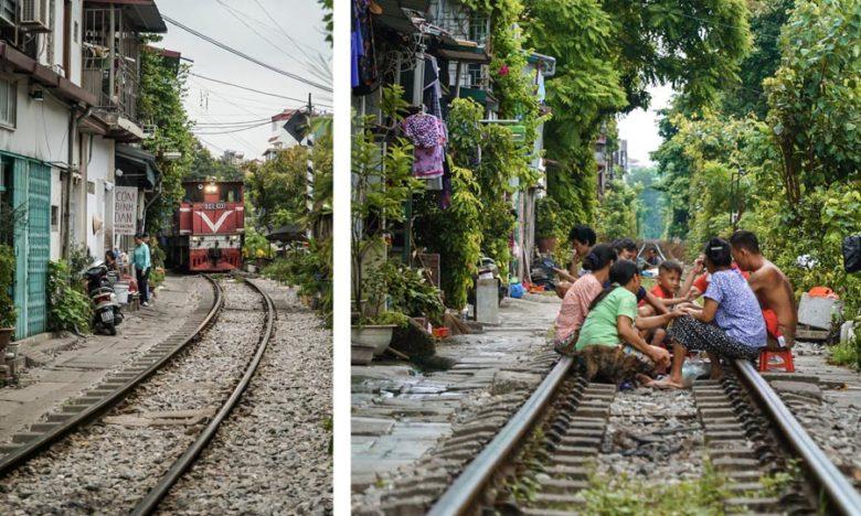 Vietnam Train Street Hanoi