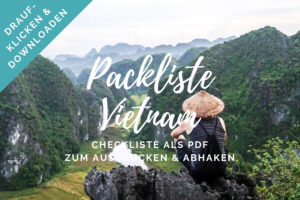 Vietnam Packliste PDF Checkliste zum Download