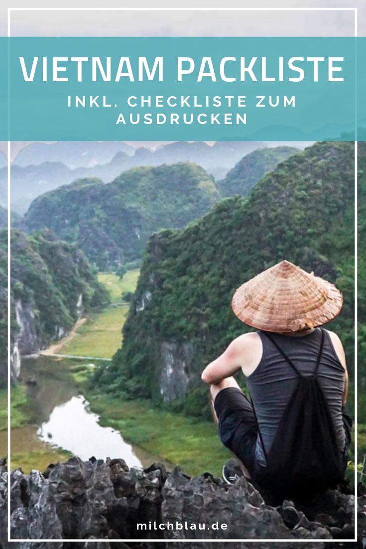 Unsere Packliste für deine Reise nach Vietnam / Südostasien, inkl. Checkliste als PDF zum Download.