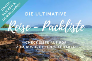 Ultimative Packliste Reise PDF Checkliste zum Download