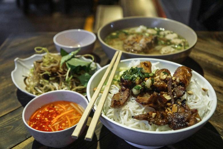Bun Thit Nuong Vietnam Food