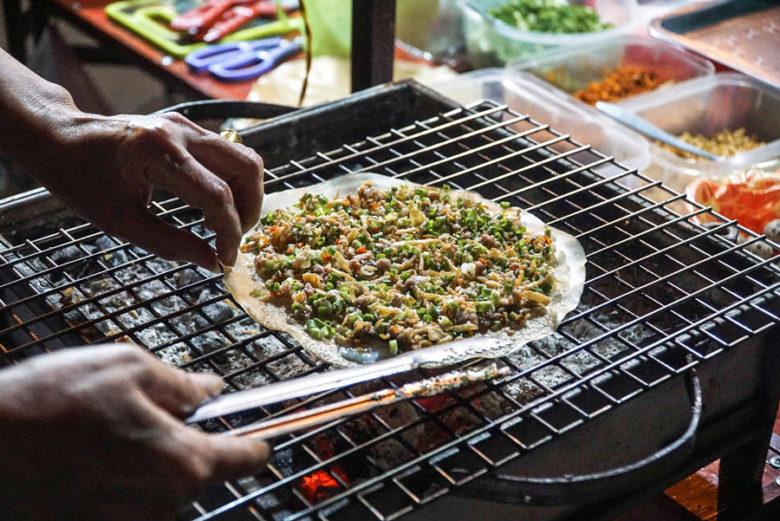 Banh Trang Nuong - Vietnamesische Pizza