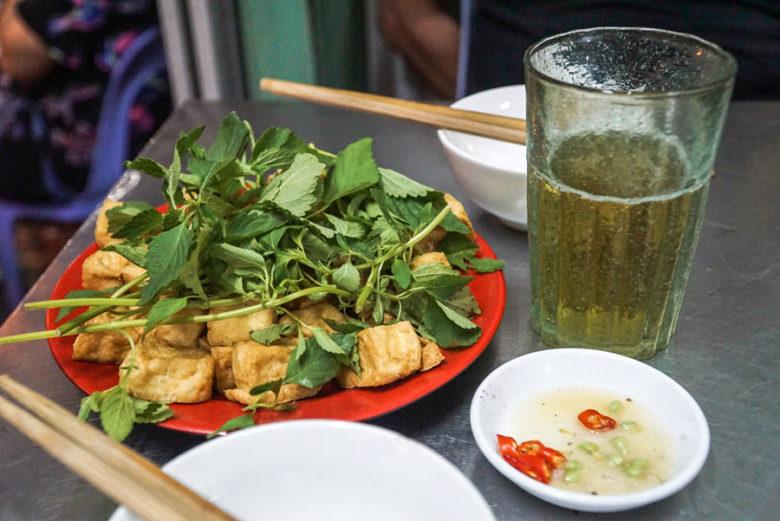 Tofu mit Kräutern und Bier