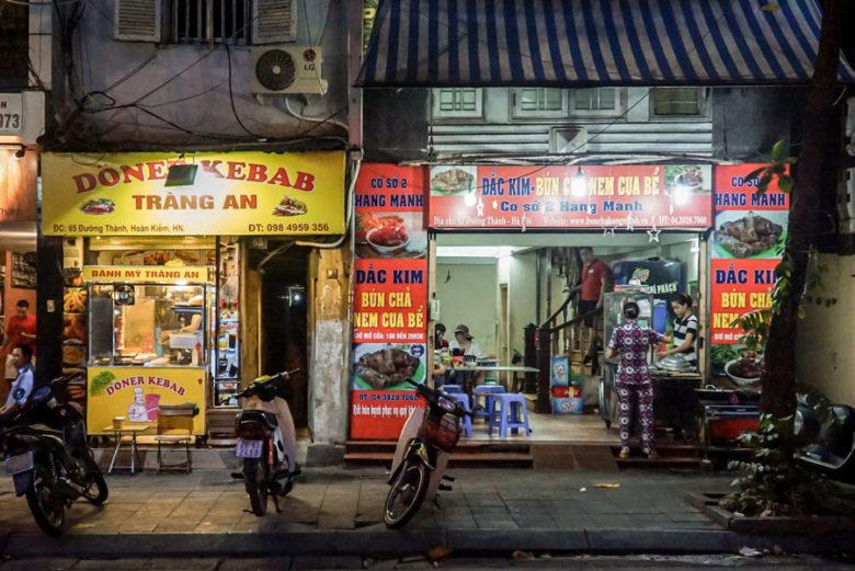 Streefood Bun Cha in Hanoi