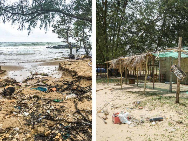 Phu Quoc - Verschmutzte Strände mit Müll