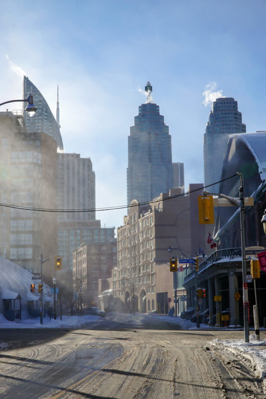 Schneegestöber in Toronto