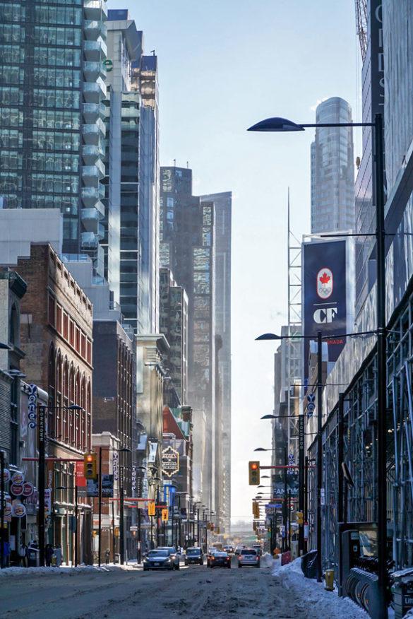 Toronto Yonge Street im Winter
