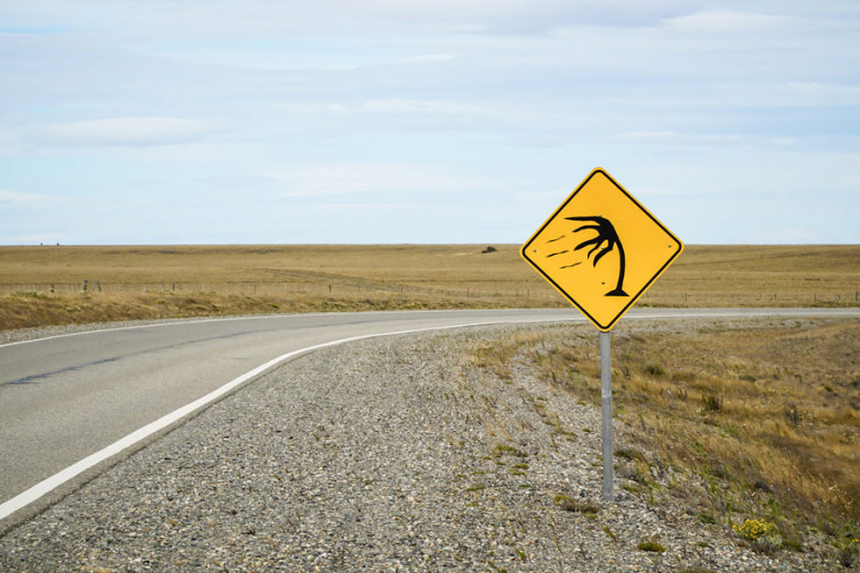 starker Wind in Patagonien