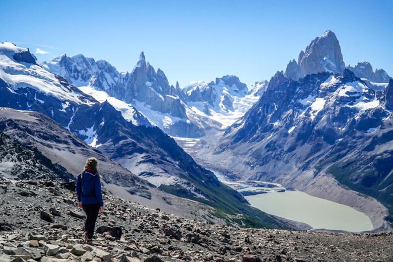 Wanderung Patagonien - Loma del Pliegue Tumbado bei El Chalten