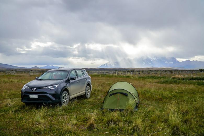 Camping Patagonien wild zelten