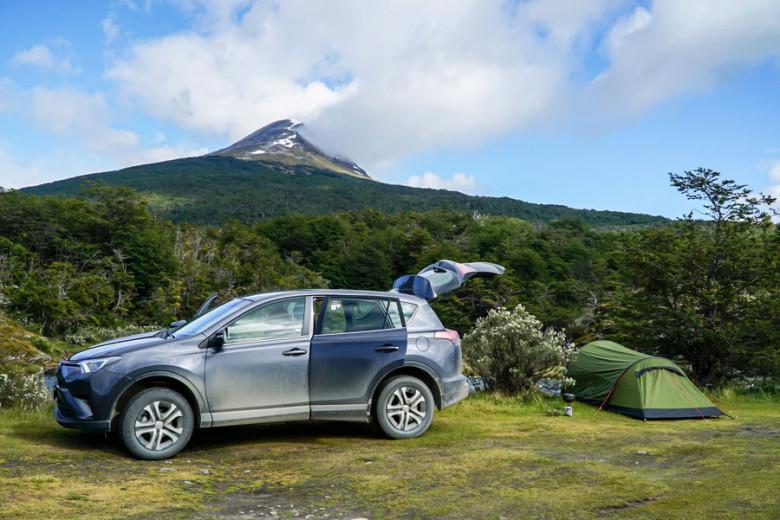 Camping in Feuerland, Argentinien