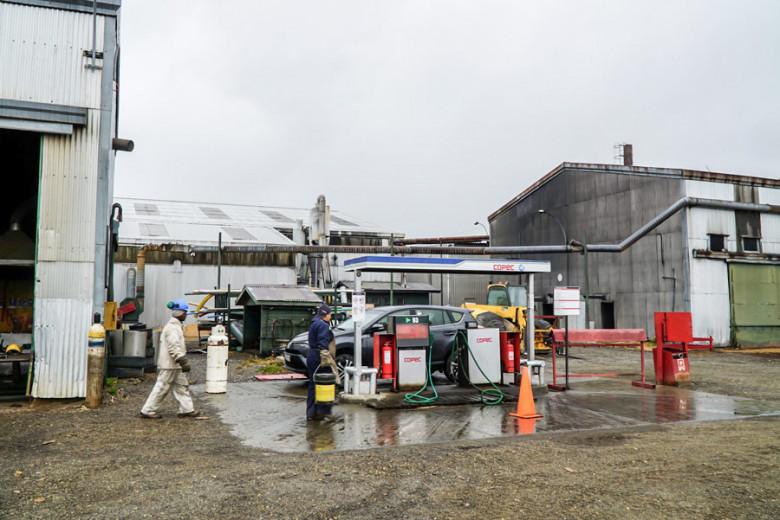 Chile Feuerland Tankstelle Russfin