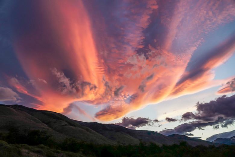Sonnenuntergang Roadtrip Patagonien Feuerland