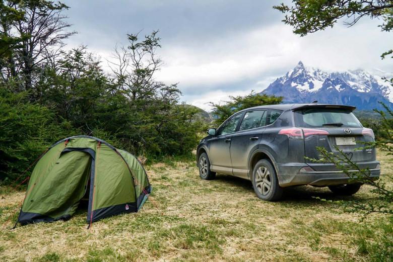 Camping Patagonien Torres del Paine Zelt