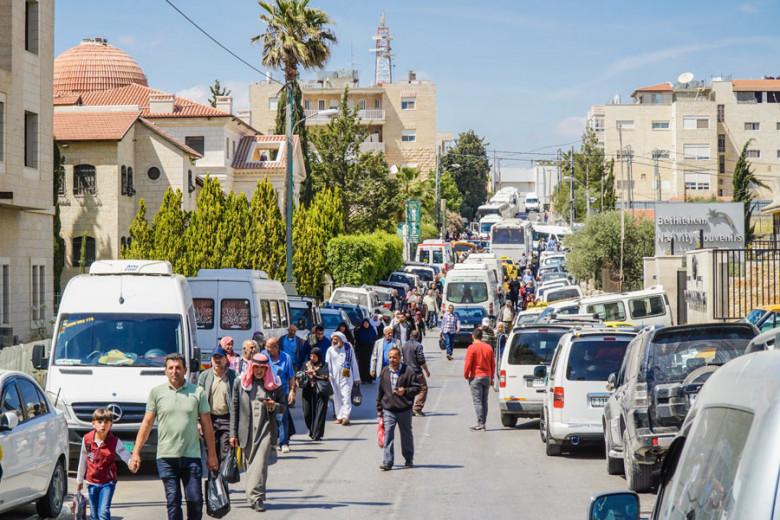 Bethlehem Palästina Westjordanland Grenzverkehr