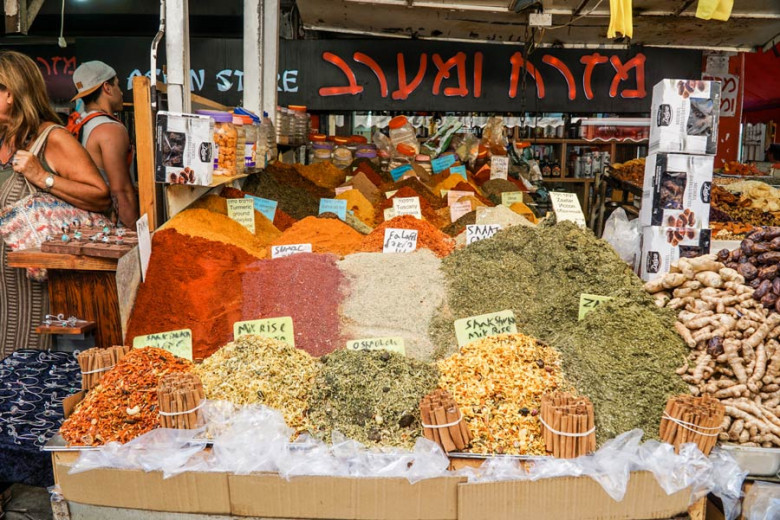 Israel Kurztrip Markt Gewürze