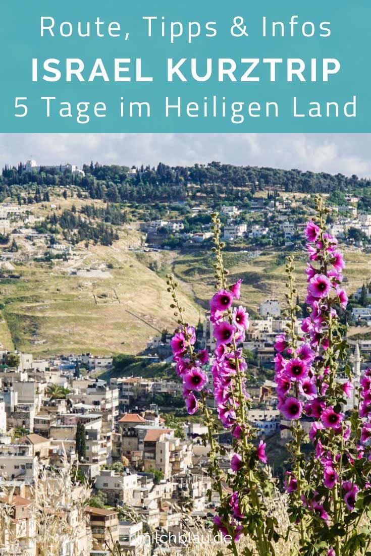 Israel Kurztrip: Route, Tipps & Infos für das Heilige Land