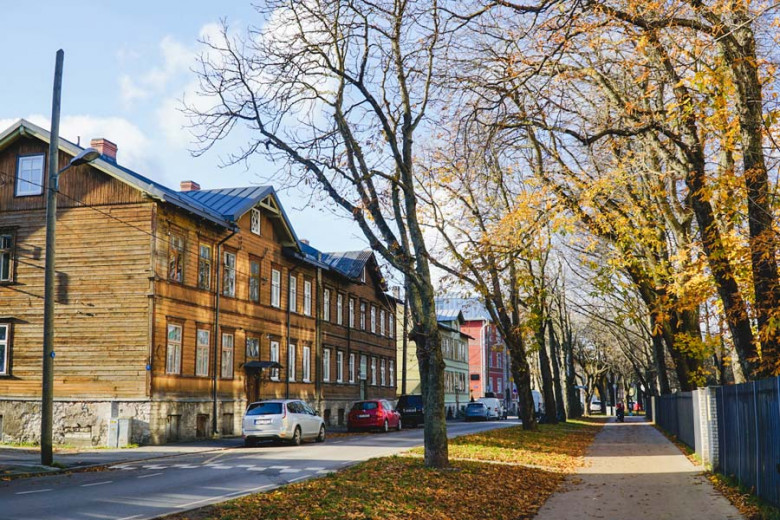 Holzhäuser in Kalamaja, Talllinn Estland