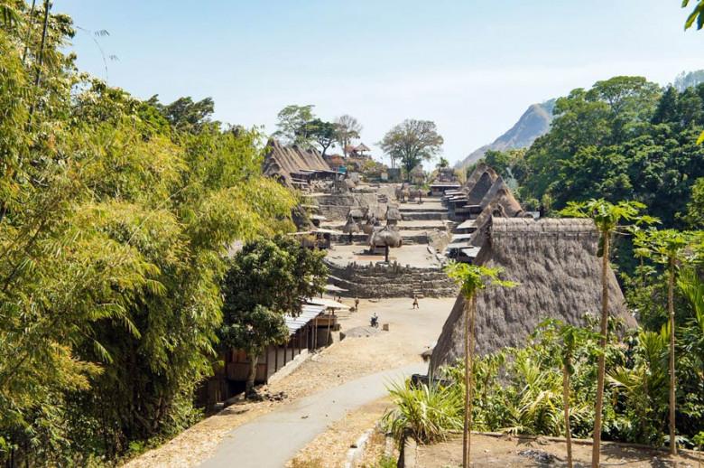 Flores Indonesien bena Traditional Village