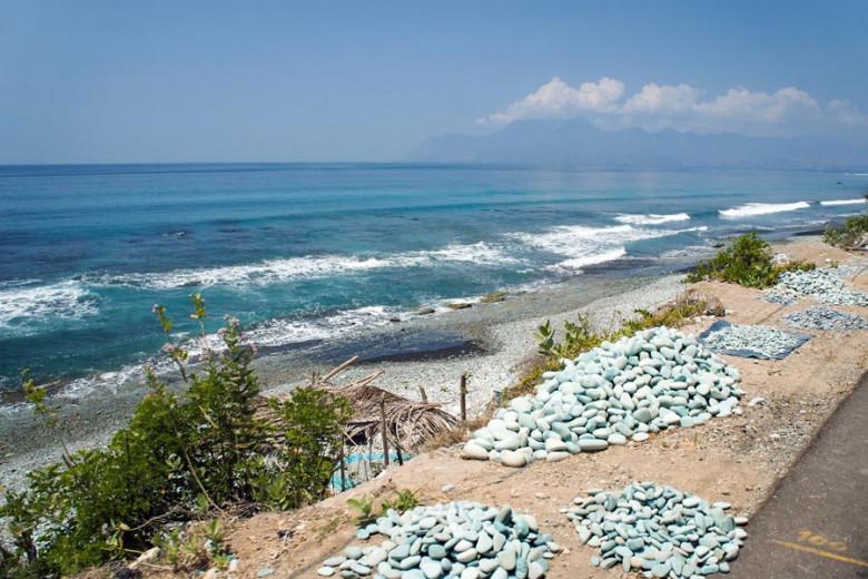 Flores Indonesien Blue Stone Beach