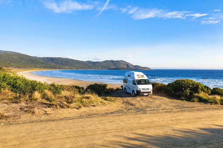 Route Tasmanien mit Camper