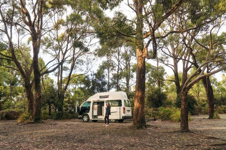 Camping in der Natur Tasmanien